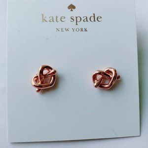 Kate Spade Knotted Love Hollow Stud Earrings
